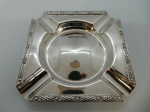 Solid SILVER Celtic border ASHTRAY. Lanson Ltd, Birmingham 1952. 50g