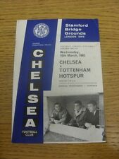 10/03/1965 Chelsea v Tottenham Hotspur  (Light Fold, Foxing).  Any faults with t