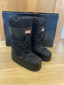 BNIB Women's HUNTER Black Chatel Snow Boot Size UK 3 - 5