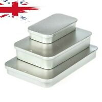 Tin Boxes Small Storage Rectangle Pill Box Coin Drill Jewellery Screw Organiser