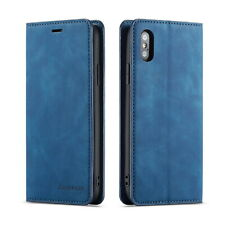 For iPhone 8 Plus Case 7 6s Plus Retro Leather Wallet Magnetic Buckle Flip Cover