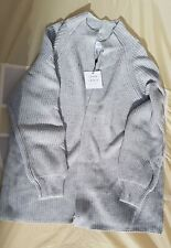 John Lewis grey cable knit pleated sleeve  jumper size 16 rrp £79 BNWT