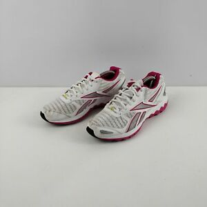 WOMENS REEBOK WHITE PINK WORKOUT GYM TRAINERS SNEAKERS UK 7 EU 40.5 SHOES