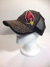Baseball Ball Cap Cardinal Red Bird Logo Hat Brown Straw Mesh Adult Strapback