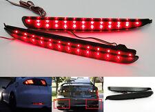 Black Smoked Lens LED Bumper Reflector Tail Brake Stop Light 03-08 Mazda6 Atenza