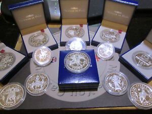 Silver Proof Football Coins $50 - 1 Crown -£5-$1 ECT Various Dates Collectors