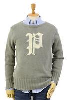 Polo Ralph Lauren Pullover Crew Sweater w/ P grey/white