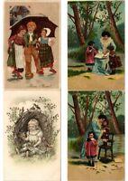 CHILDREN INFANTS Mostly ARTIST SIGNED 100 Vintage Postcards (PART 6.)