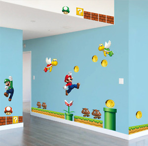 Super Mario DIY Removable PVC Wall Stickers Vinyl Decal UK