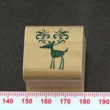 Ornate Cartoon Reindeer Rubber Stamp