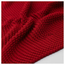 "IKEA INGABRITTA THROW BLANKET RED 51x67"" SOFT COTTON BLEND BEAUTY FREESH"