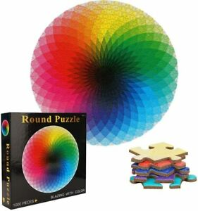 1000 PCS Jigsaw Puzzle Round Rainbow Puzzles For Adults Kids Learning Education
