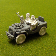 28mm WW2 British Airborne Paratroops, Airlanded recce jeep, Historical,1st Corps
