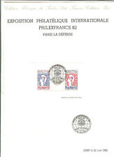 2/ TIMBRES FRANCE YVERT BLOC N° 8 OBLITERE 1 er JOUR SUR DOCUMENT OFFICIEL