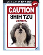 Caution Shih Tzu On Patrol - Static-Cling Window Sign