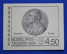 Sweden (807a) 1968 Nobel Prize Winners - Lippmann & Eucken MNH booklet
