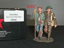 KING AND COUNTRY FW187 WORLD WAR ONE GERMAN + BRITISH TOMMY BACK FROM THE FRONT