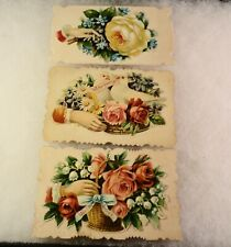 3 Antique Calling Cards all with glossy privacy covers