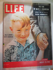 LIFE MAGAZINE AUGUST 29, 1955 BILLY CONNER WITH GRANDDAD