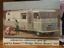 """""""Dodge Motor Home! '62""""  clean unmarked sales fold-out"""