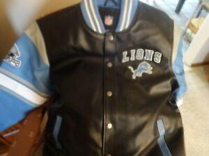 new design jacket size xl  very nice Detroit Lions faux leather  runs big