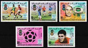 Mauretanien - Argentinien Gewinner Fußball WM Satz postfrisch 1978 Mi. 615-619