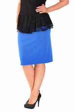 Knee Length Polyester Patternless Plus Size Skirts for Women