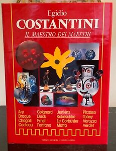 Egidio Costantini IL Maestro Dei Maestri Glassblowing Hardcover Book FRENCH ED.