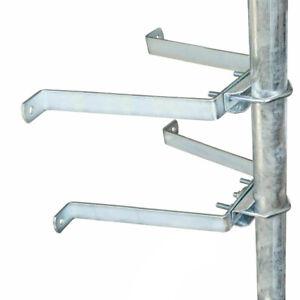10cm GigaBlue Sat Wand Abstandshalter Mauerhalter Masthalter 38-60mm Ø verzinkt