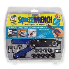 New 15pcs Squeeze Handle Ratchet Wrench Set
