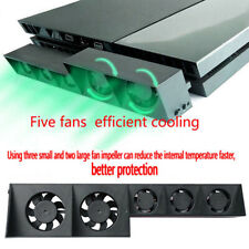 For PlayStation PS4 Slim Host Game Console USB Powered External Cooling 5 Fans