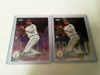 2018 Topps Chrome Pink Refractor + Matching Chrome Elvis Andrus