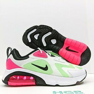 Nike Air Max 200 Women's Athletic Running Training White Green Pink CJ0629-100