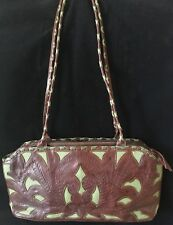 Vintage Tool Carved Leathers In Leather Western Hand Bag Purse Made In Paraguay!