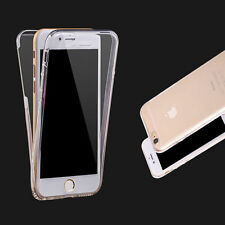 Front and Back Clear Full protection gel Skin Case For Various Mobile Phones