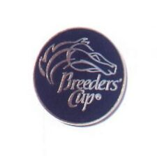 Undated Round Black & Gold Breeders Cup Lapel Pin in MINT Condition