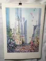 """Carolyn Anderson Chicago Water Tower Marathon S/N Lithograph Print 22 x 31"""""""