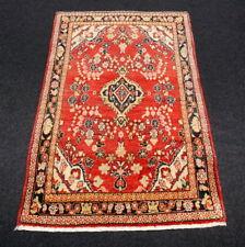 Orient Teppich Rot 150 x 99 cm Alter Perserteppich Handgeknüpft Carpet Rug Tapis
