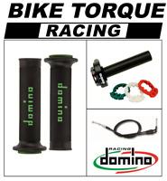 1000 SB8    Domino XM2 Quick Action Throttle Kit Black Green RR Grips