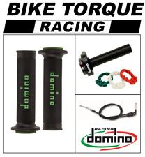 VFR400 NC30  Domino XM2 Quick Action Throttle Kit Black Green RR Grips