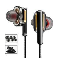 CBC3 Dual Dynamic Driver Headphone Bass Stereo Earphone HiFi Headset Audifonos