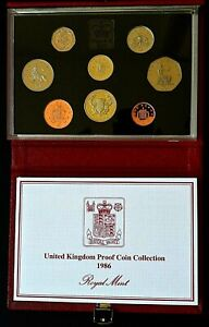 ROYAL MINT 1986 DELUXE PROOF YEAR SET.                            CH4-121