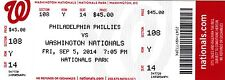 2014 NATIONALS VS PHILADELPHIA PHILLIES TICKET STUB 9/5 MAIKEL FRANCO 1ST HIT