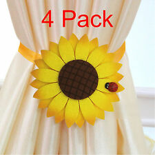 4-Pc sunflower strong Magnetic Curtain tiebacks Holdbacks Drapery Holder
