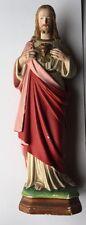Très Jolie Statue Religieuse En Plâtre ,