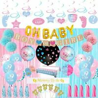 Gender Reveal Party Supplies Kit Blue and Pink Baby Boy Or Girl , Pink and Blue