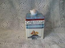 Country Kitchen Ceramic Stone Wear Tea Pot Bag Holder Dispenser Caddy