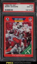 1989 Pro Set Barry Sanders ROOKIE RC #494 PSA 10 GEM MINT
