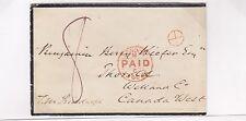 Privy Purser's office Wax Seal 1866 pd 8 Cunard Line China ex de Volpi to Canada