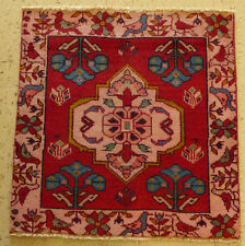 2'x2' Authentic 1950's old Antique Persian Kashan With Birds Oriental rug